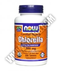 NOW Chlorella 500mg. / 200 Tabs.