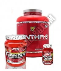 PROMO STACK Amix Creatine Powder / BSN Syntha-6 5 Lbs. / Amix Nitric Oxide 120 Caps.