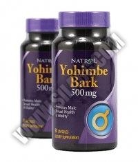 PROMO STACK NATROL Yohimbe Bark 500 mg. / 90 Caps. / x2