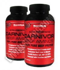 PROMO STACK Musclemeds Carnivor Beef Aminos 300 Tabs. / x2