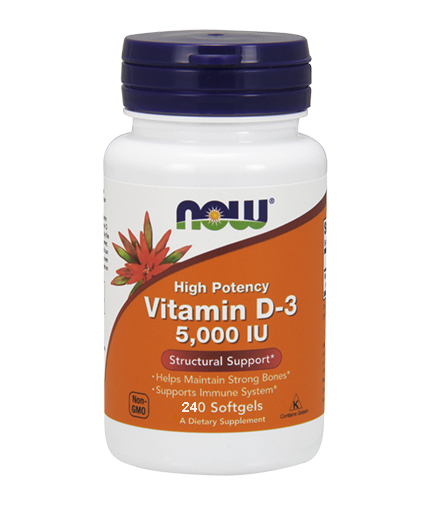 NOW Vitamin D-3 / 5000IU / 240 Softgel