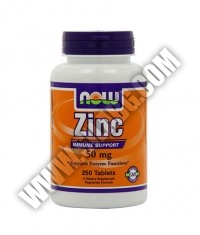 NOW Zinc 50mg / 250 Tabs.