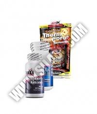 PROMO STACK Haya Labs Raspberry Ketones / Amix Thermocore / MEX CLA+Green Tea