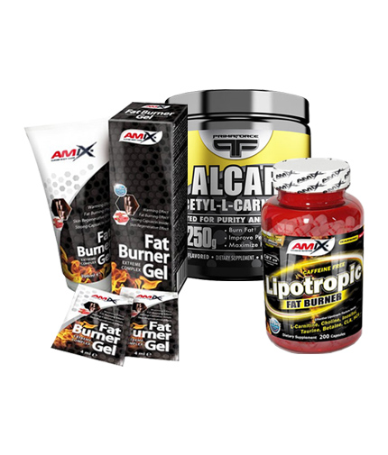 PROMO STACK Amix Fat Burner Gel Men 200ml + Primaforce Alcar 250g + Amix Lipotropic Fat Burner 200 Caps.