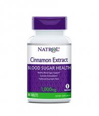 NATROL Cinnamon Extract 1000mg / 80 Tabs.
