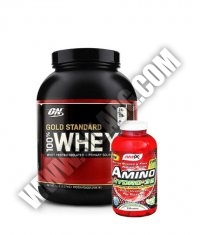 PROMO STACK ON 100% Whey Gold Standard 5 Lbs. / Amix Amino Hydro-32 250 Tabs.