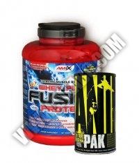 PROMO STACK Amix Whey Pure Fusion 5 Lbs. / Universal Animal Pak 44