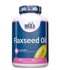 HAYA LABS Flax Seed Oil Organic 1000mg. / 100 Softgels