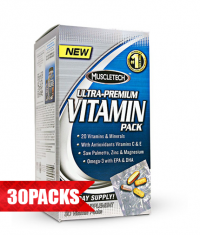 MUSCLETECH 100% Ultra Premium Vitamin Pack 30 Packs.