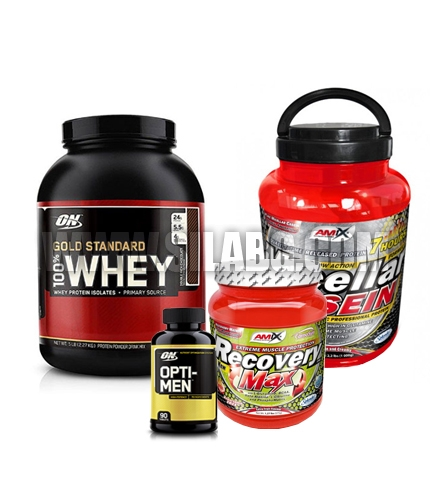 PROMO STACK ON 100% Whey Gold Standard / ON Opti-Men / Amix Micellar Casein / Amix Recovery Max