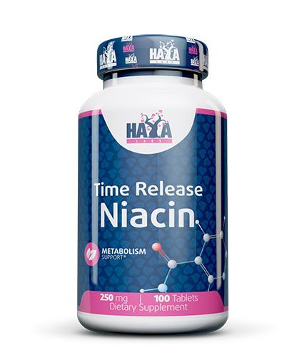 HAYA LABS Niacin /Time Release/ 250mg / 100 Tabs.
