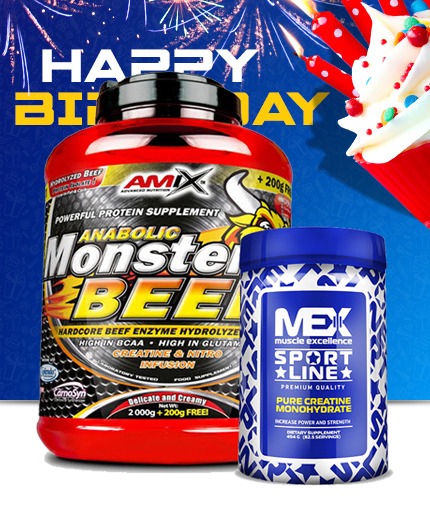 PROMO STACK Amix Monster Beef 5 Lbs. / Mex Creatine Monohydrate