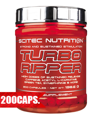 SCITEC Turbo Ripper 200 Caps.