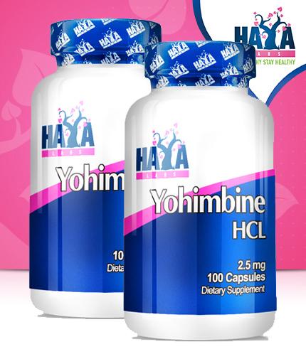 PROMO STACK HAYA LABS Yohimbine HCL 100 Caps. / x2