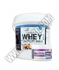PROMO STACK Everbuild Whey Build 10 Lbs. / USP LABS OxyElite Pro Super Thermo Powder 60serv.