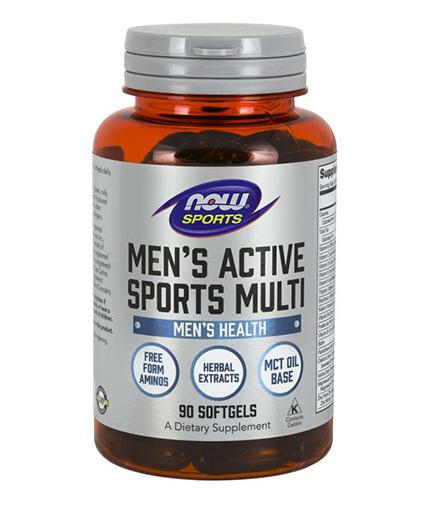 NOW Men's Active Sports Multivitamin / 90 softgels