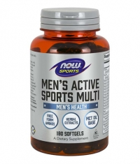 NOW Men's Active Sports Multivitamin / 180 softgels