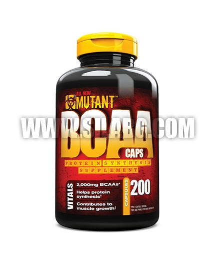MUTANT 100% Free Form BCAA 200caps.