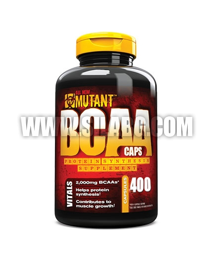 MUTANT 100% Free Form BCAA 400caps.