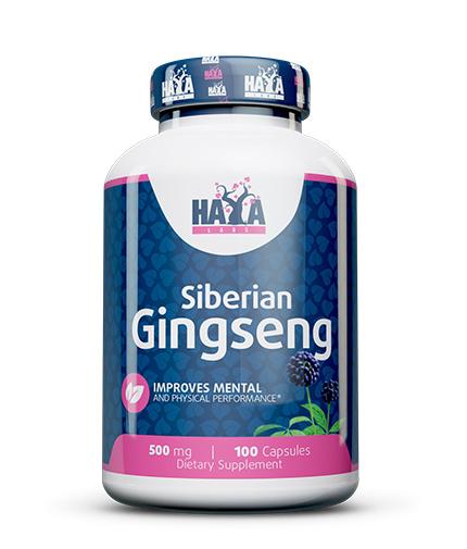 HAYA LABS Siberian Ginseng 500mg / 100 Caps