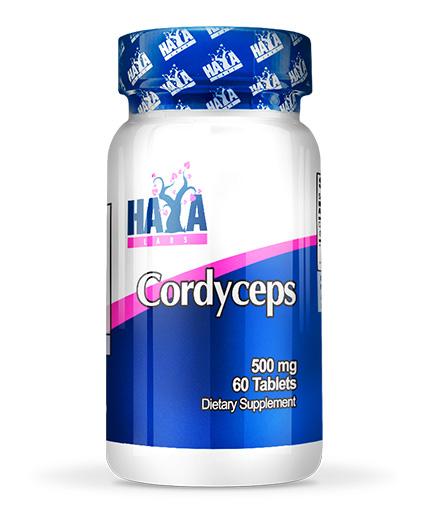 HAYA LABS Cordyceps 500mg / 60tabs.