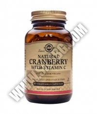 SOLGAR Cranberry with Vitamin C / 60 vcaps.