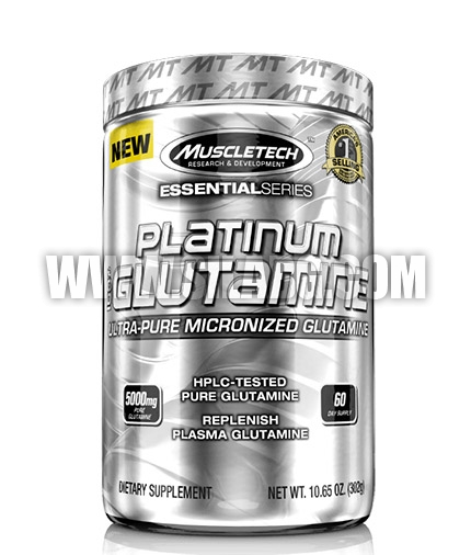 MUSCLETECH Platinum Micronised Glutamine / 300g.