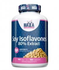 HAYA LABS Soy Isoflavones 80% Extract NON-GMO  100mg / 100 Caps