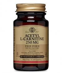SOLGAR ACETYL L-CARNITINE 250mg / 30 vcaps