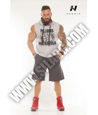 NEBBIA 914 Reg Top Hooded / Grey