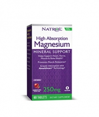 NATROL Magnesium High Absorption / 60 chew tabs.