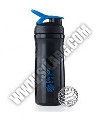 BLENDERBOTTLE Sports Mixer Bottle /Black-Blue/ 28oz