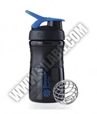 BLENDERBOTTLE Sports Mixer Bottle /Black-Blue/ 20oz