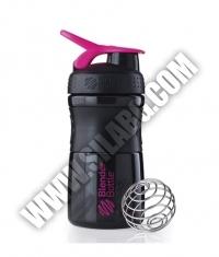 BLENDERBOTTLE Sports Mixer Bottle /Black-Pink/ 20oz