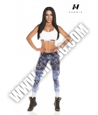 NEBBIA 882 LEGGINGS ART BLUE