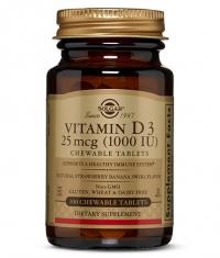 SOLGAR Vitamin D-3 1000 IU / 100 Chewables Tabs