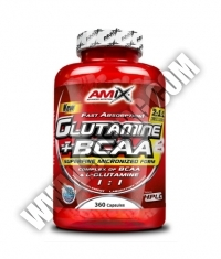 AMIX Glutamine + BCAA / 360 Caps.