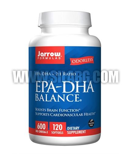 Jarrow Formulas EPA-DHA Balance® 600mg. / 120 Soft.
