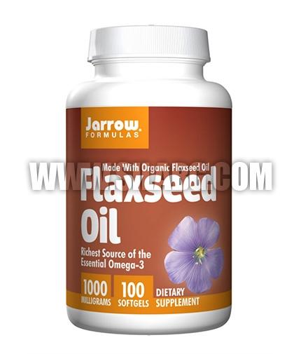 Jarrow Formulas Flaxseed Oil 1000mg. / 100 Soft.