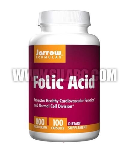 Jarrow Formulas Folic Acid 800mg. / 100 Caps.