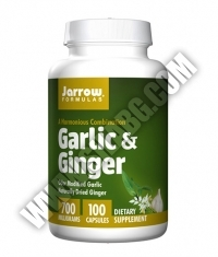 Jarrow Formulas Garlic & Ginger 700mg. / 100 Caps.