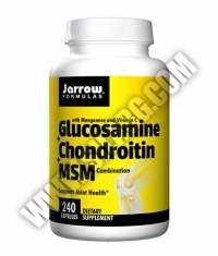 Jarrow Formulas Glucosamine + Chondroitin + MSM / 240 Caps.