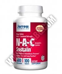 Jarrow Formulas NAC Sustain® 600mg. / 100 Tabs.