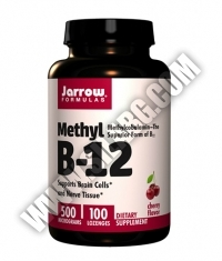 Jarrow Formulas Methyl B-12 Cherry Flavor 500mcg / 100 Tabs.