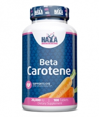 HAYA LABS Natural Beta Carotene 20,000 IU / 100 Tabs.