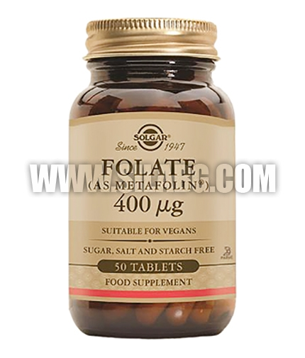 SOLGAR Folate (metafolin) / 50 tabs.
