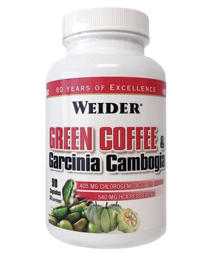 WEIDER Green Coffee + Garcinia Cambogia / 90 Caps.