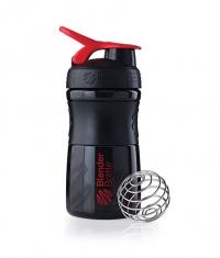 BLENDERBOTTLE Sports Mixer Bottle /Black-Red/ 20oz