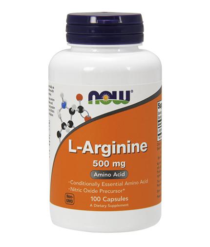 NOW L-Arginine 500mg. / 100 Caps.
