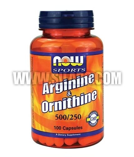 NOW L-Arginine / Ornithine / 500-250mg. / 100 Caps.